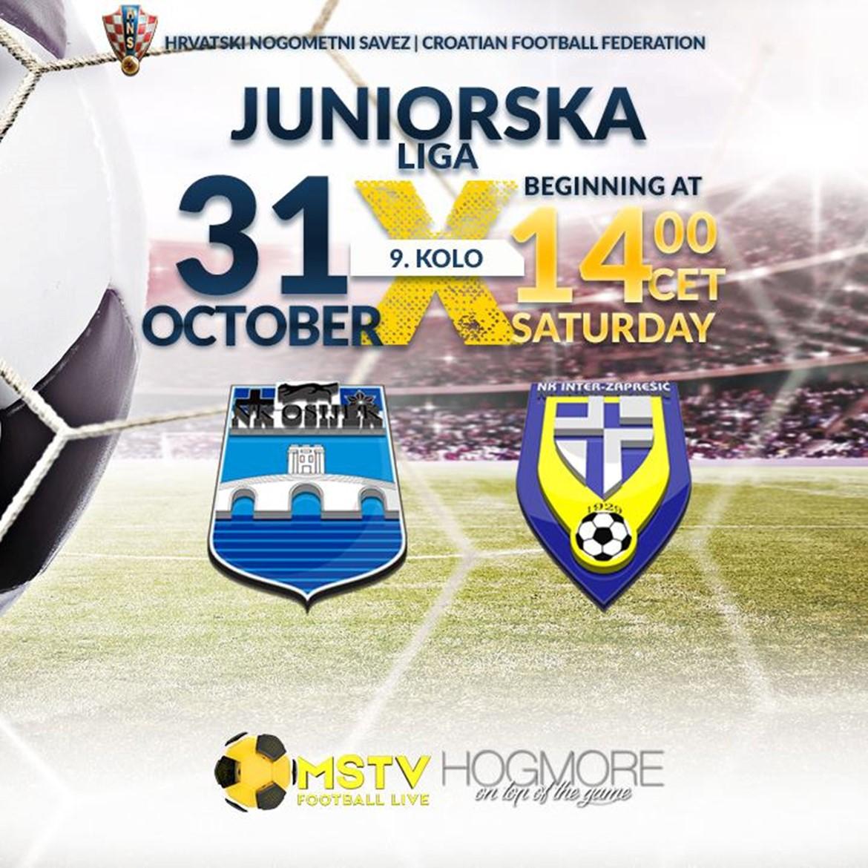 LIVE stream: Juniori vs Inter Zaprešić