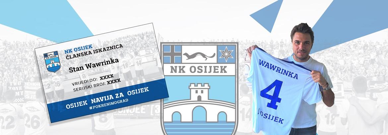 Stan Wawrinka navija za Osijek!